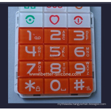 Silicone Rubber Keypad with Plastic Keypad Cover