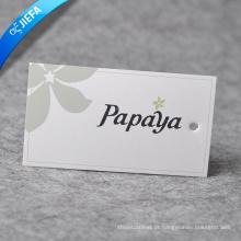 Venda quente pendurar etiqueta de papel para vestuário sem MOQ