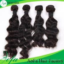 Extensão não processada do cabelo humano do Virgin do Weave do cabelo Remy