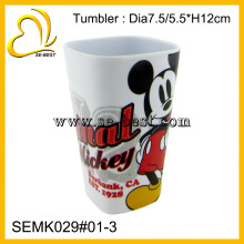 2014 new design square melamine cup for children