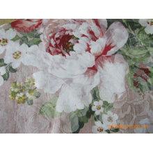 tejido impreso de poliéster y algodón