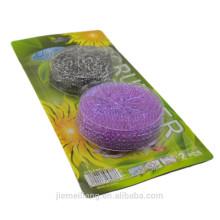 Os produtos os mais vendidos estofador da bola do aço inoxidável do scourer da esfera do plástico 2PK / set vendas quentes