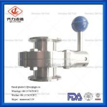 Stainless Steel Food Grade Manual TC clamped Butterfly Valve