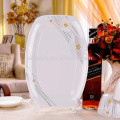 different decal porcelain square oval plate ceramic square oval plate