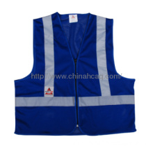 High Visibility Safety Vest ,polyester and cotton fabrics,blue color