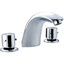 Deck Mounted Basin Chrome Brass Faucet