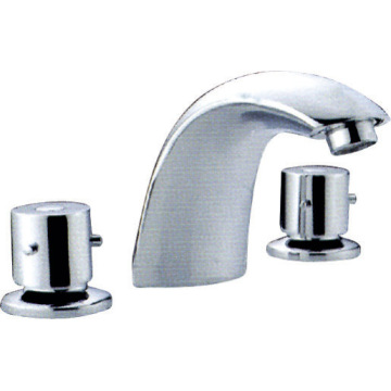 Deck Mounted Basin Faucet, Kuningan Chrome