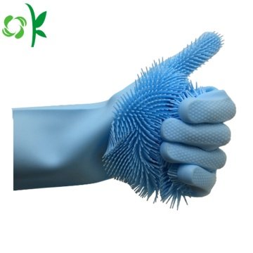 Silicone Cleaning Scrubber Brush Gloves Wholesale
