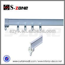 Rail plafonnier à double rideau en PVC