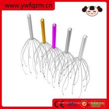 outils colorés de massager de tête d'acier inoxydable