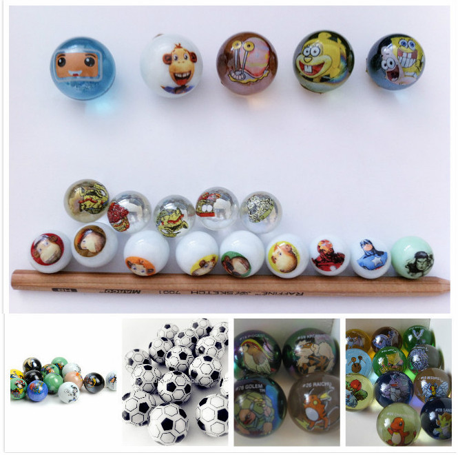 printed glass marbles