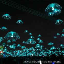 Jellyfish Fiber Optic Light In Landscape Lighting Project
