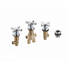ACS durable cross handle bathroom brass sanitary ware mixer bathtub faucet