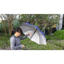 Nylon super waterproof canopy customize logo manual hand open rain shapes air promotional custom golf umbrella