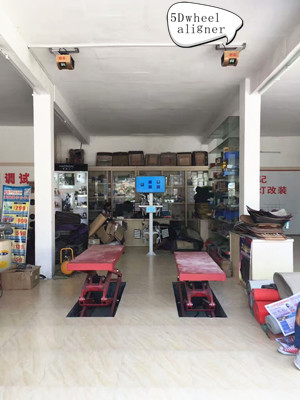 Sucvary Mini-scissor Lift Wheel Alignment