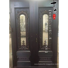 Glass Double Copper Exterior Door