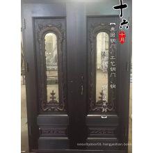 Glass Double Copper Exterior Door
