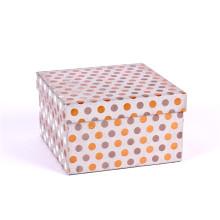 caja de regalo de papel de lujo de alta calidad de la cartulina al por mayor para la ropa