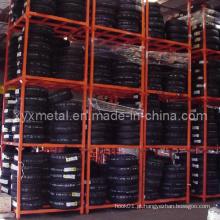 Rack de pneu de armazenamento horizontal plegável e empilhável