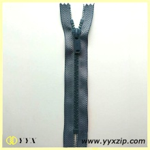 Dua Tone Thread Weaving Fabric Plastic Zipper