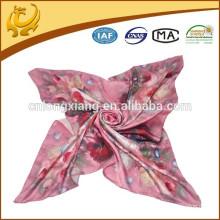Haute qualité Belle conception 100% soie Satian OEM et ODM Service Faites votre propre écharpe