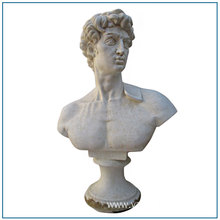 Famous David Stone White Marble Bust Statue