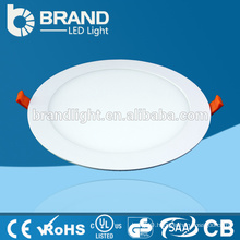 CE RoHS Approved 12W Round Ultra Thin LED Ceiling Panel Light, 3 Years Warranty