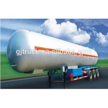 56 CBM tri-axle LPG gas/propane transport tank semi trailer / lpg tank truck trailer