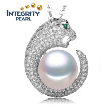 Unique Animal Pearl Pendant AAA 9-10mm Button Single Freshwater Pearl Pendant