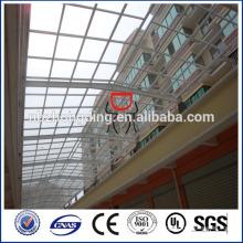 Twinwall Struktur Blue Polycarbonat Panel für Gebäude