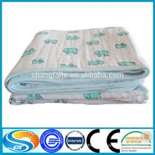 super soft cotton 4-layer muslin blanket