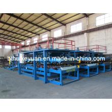 Formador de rolos de linha de produção de estrutura sanduíche de material de construção PLC