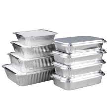 Aluminium foil food plate tray with lid