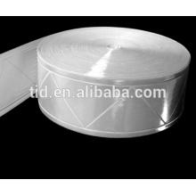 Cinta reflexiva del PVC prismático, cinta reflexiva del color blanco para la ropa