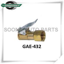 Air Chuck, Tire Chuck, brass body with clip, Repair tool