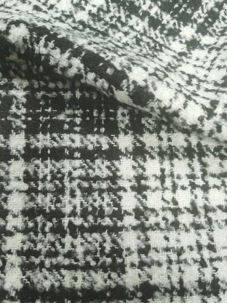 Boucle Tartan Design Fabric