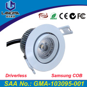Langma Sample 2700K 3000K Dimmable No Driver 6W Samsung AC COB led downlight Lamp Paint White Ra>80 Indoor Lightings Warm White