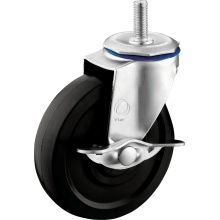 Light Duty Thread Stem PVC Casters with Side Lock