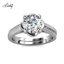 New Luxury Sterling Silver 1 Carat Gra Moissanite Diamond Adjustable La Rose Women Solitaire Ring