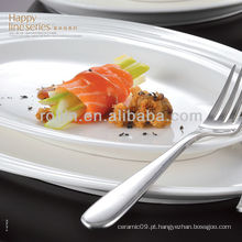 Série de linha feliz porcelana chinesa fina e jantar de cerâmica conjunto, dinnerware, conjunto de placas