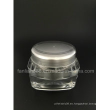 Botellas de crema de acrílico personalizadas de lujo para envases cosméticos