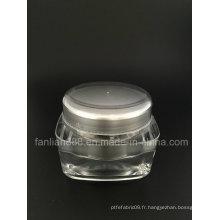 Bouteilles de crème acrylique spécialisées à la clientèle pour l'emballage cosmétique