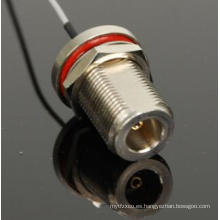 Conector recto de TNC a conectores Mhf para ensamble de cables 1.13