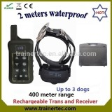 400Meter Multi-dog system waterproof remote control dog training collar