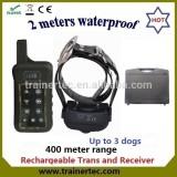 400Meter Multi-dog system waterproof remote control dog training collar