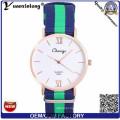 Yxl-489 Vogue Stylish Nylon Nato Strap Watch, Quartz Wrist Watch for Women Men Dw OEM Factory Sport Watch Wrist