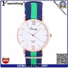 Yxl-489 Vogue Elegante correa de nylon Nato reloj, reloj de pulsera de cuarzo para las mujeres Hombre Dw OEM fábrica reloj deportivo de pulsera