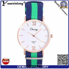 Yxl-489 Vogue Stylish Nylon Nato Strap Watch, Quartz Wrist Watch for Women Men Dw OEM Factory Sport Watch Wrist