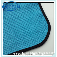 micorifber covered edge and round waffle gym towels