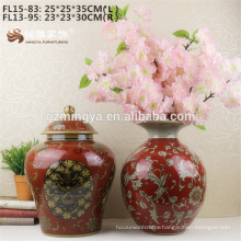 Chinese home decor Ceramic Flower Vase Of Table Decoration interior decoration materials